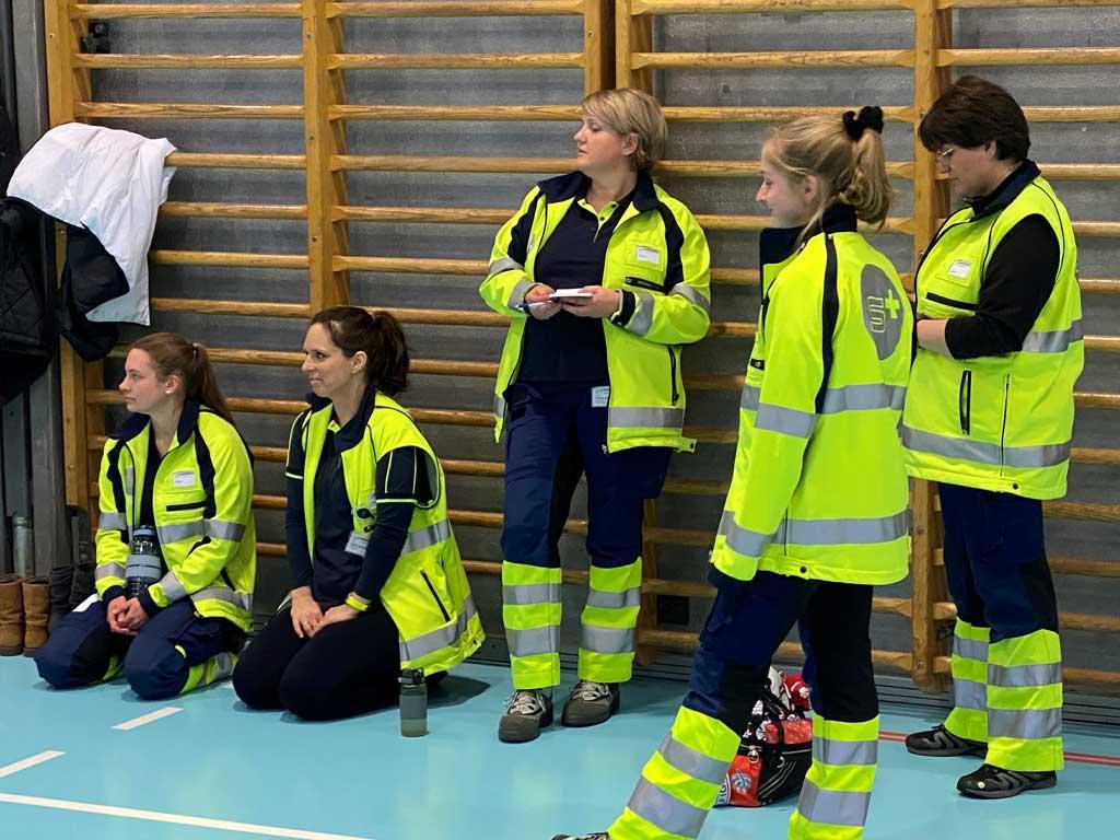 Samariter Zürich Süd beim Kurs Nothilfe beim Sport